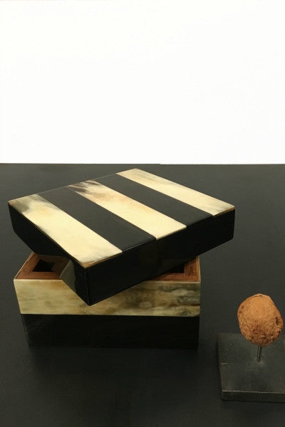Cow horn box square
