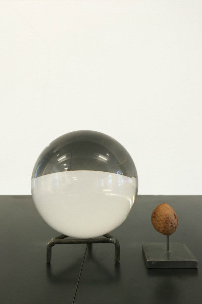 Glass sphere on standard