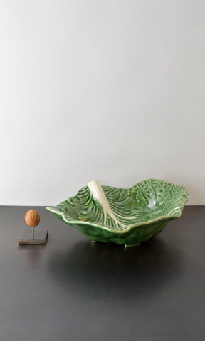 Cabbage leaf bowl ceramic