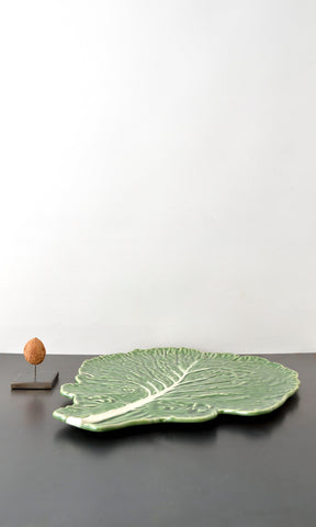 Cabbage leaf plate ceramic