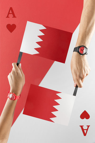 Bahrain Flag Red