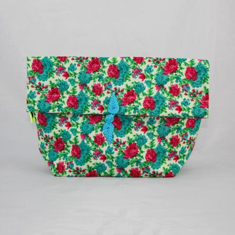 Blue Flowers Clutch Bag