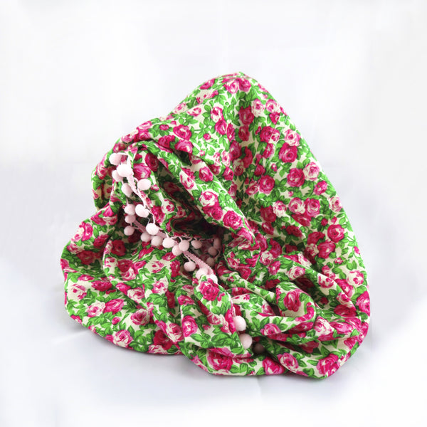 Pink Roses Infinity Scarf