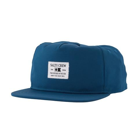 Salty Crew ESSENTIALS CUSTOM TECH NAVY 5 PANEL Cap
