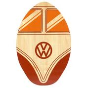 "VW Wooden Skimboard - 30"" Oval Surf Skimmer board - 7 ply - Red Camper Van"