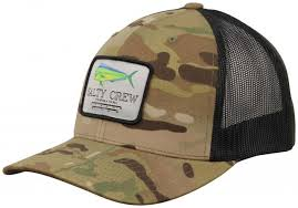 Salty Crew MAHI MOUNT MULTICAM CAMO RETRO TRUCKER Cap