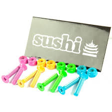 SUSHI COLOURED SKATEBOARD BOLTS PACK