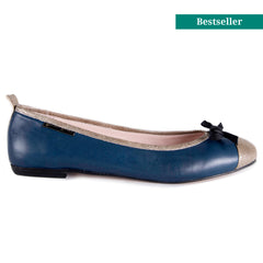 Copperhead navy ballet flat