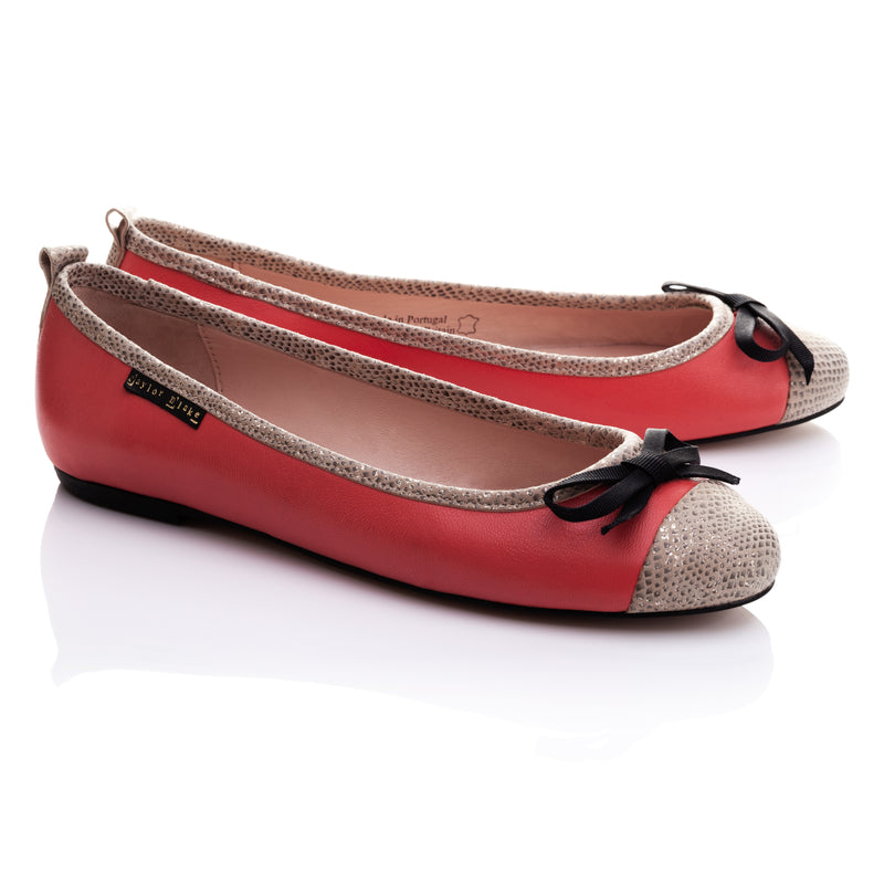 BESTSELLER | Eastern Coral | Women's Soft Leather Ballet Flats