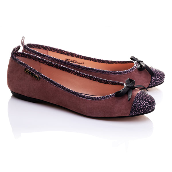 BESTSELLER | Mandalay | Women's Rose Pink Suede Soft Leather Ballet Flats