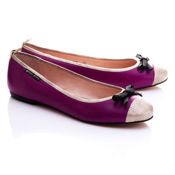 Mangrove | Women's Purple Leather Ballet Flats