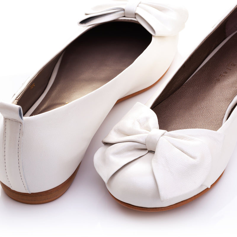 Rossellini | Leather Bridal Ballerina Pumps