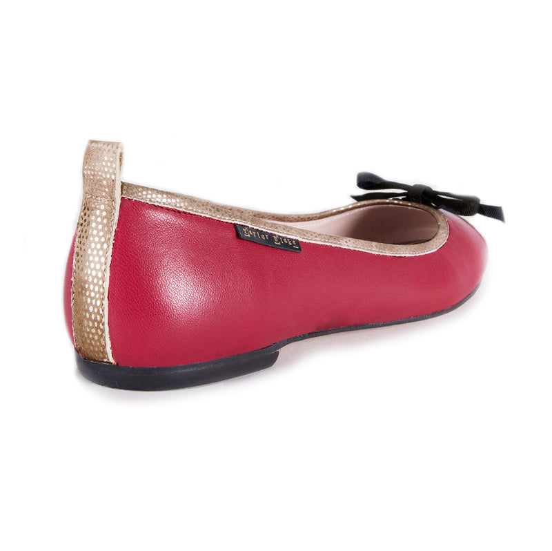 Leather ballet flats
