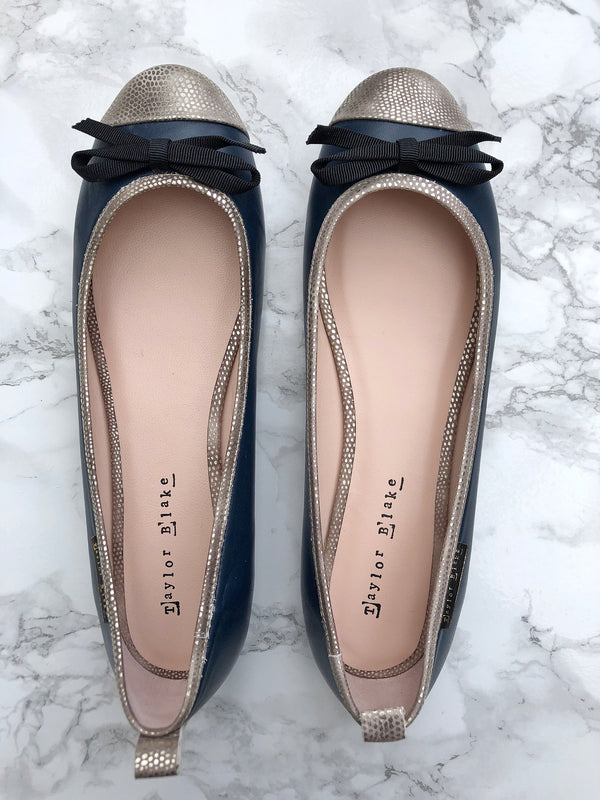 Taylor Blake leather ballerina flats sample sale