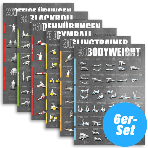 Poster 6er Set - DIN A1 (Bodyweight & Functional)