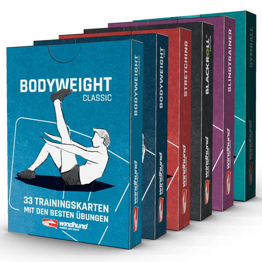 Trainingskarten 6er-Set (Bodyweight & Functional)