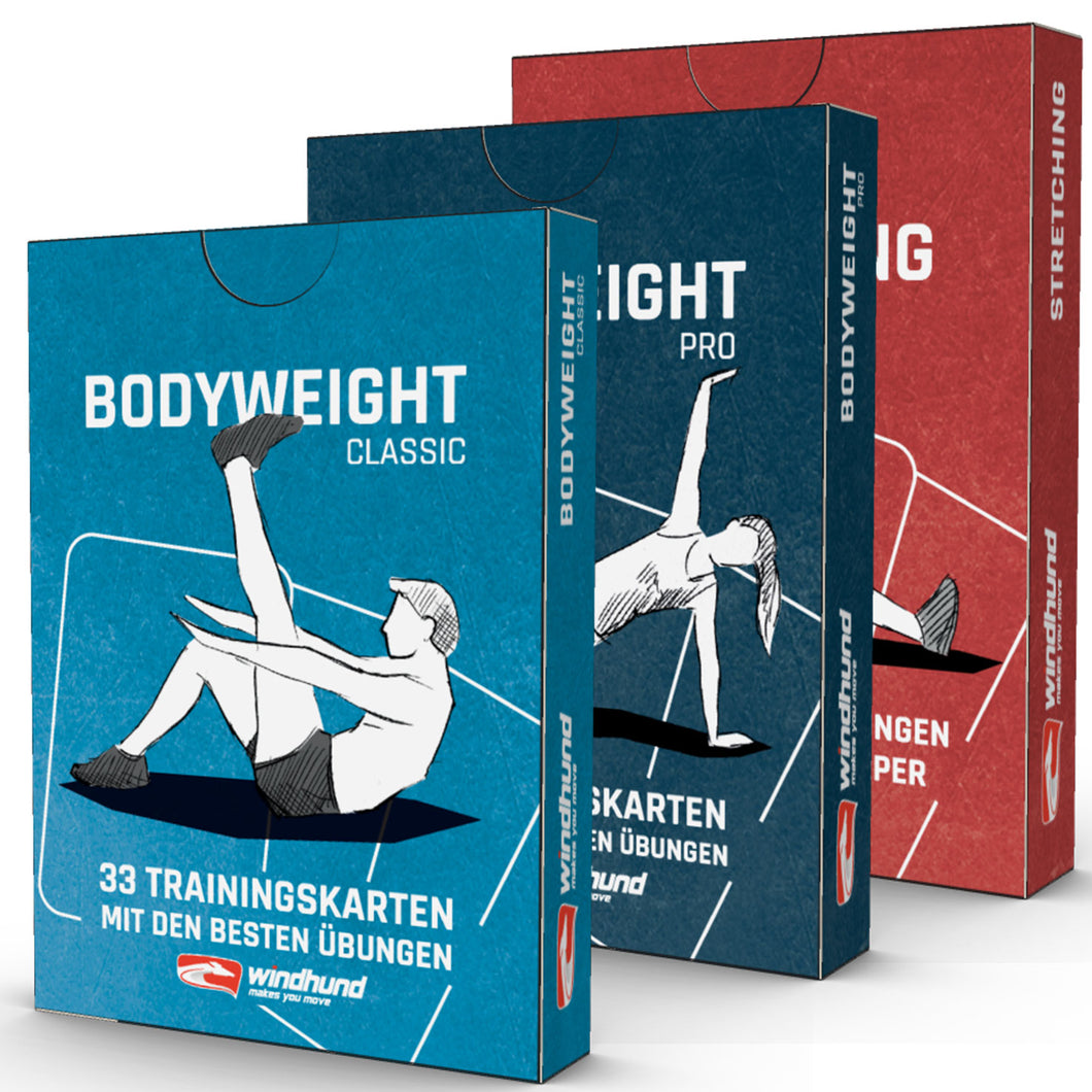 Trainingskarten 3er-Set (Bodyweight)