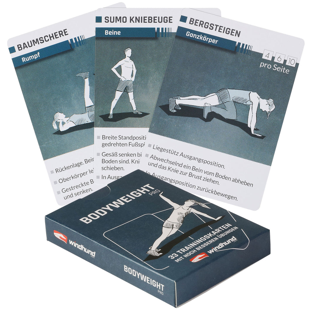 Bodyweight Trainingskarten pro