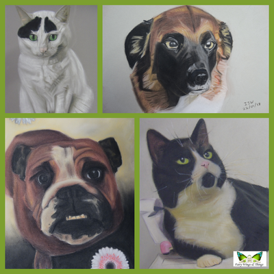 Pet Portraits in Pastels by Ian Worth