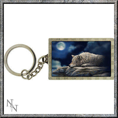 Lisa Parker, Quiet Reflection, Wolf / Fantasy, Superb 3D lenticular Keyring