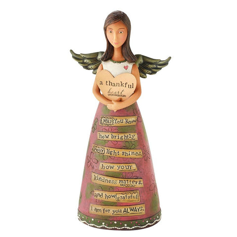 A Thankful Heart,  Angel Figurine, Kelly Rae Robert's, Demdaco