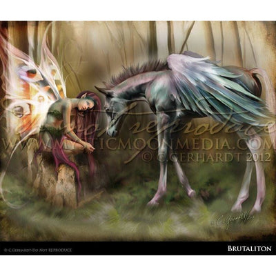 Brutaliton, Fairy and baby Pegasus print, © Mystic Moon Media LLC