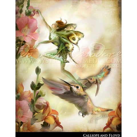 Calliope & Floyd, Tree Sprite and Hummingbirds print, © Mystic Moon Media LLC