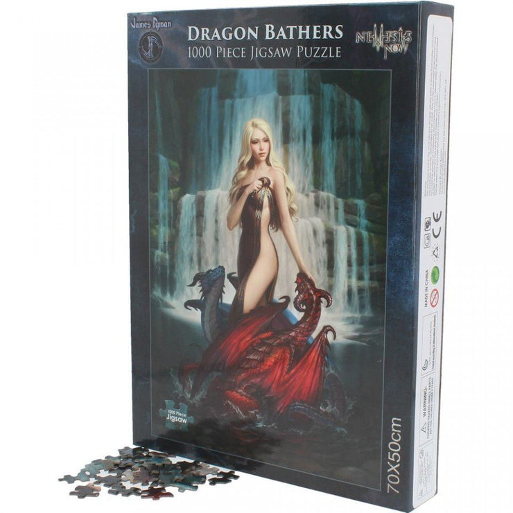 Dragon Bathers, Jigsaw, James Ryman design