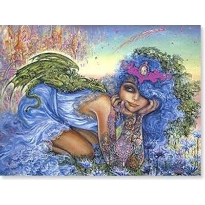 Dragon Charmer, Greetings card designed by Josephine Wall