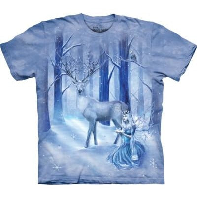 Frozen Fantasy, Faerie and Stag, T-Shirt, The Mountain
