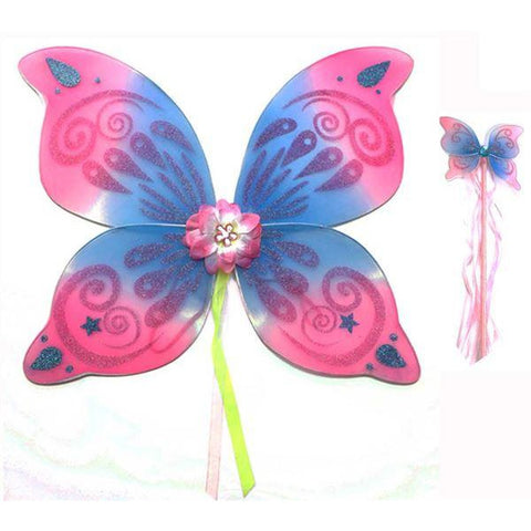 Medium swirl fairy wing and wand set