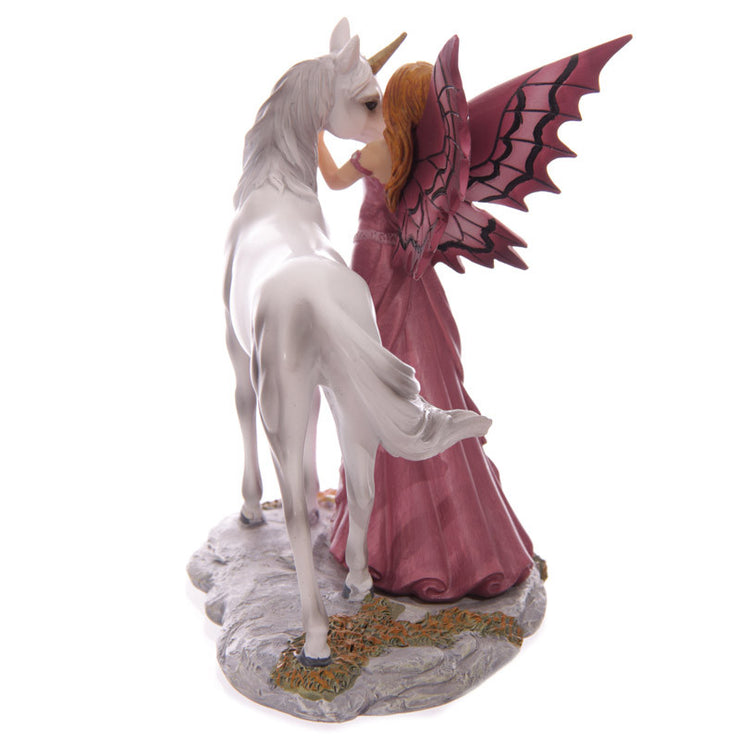 Mystical Friend, Fairy and Unicorn figurine, side view