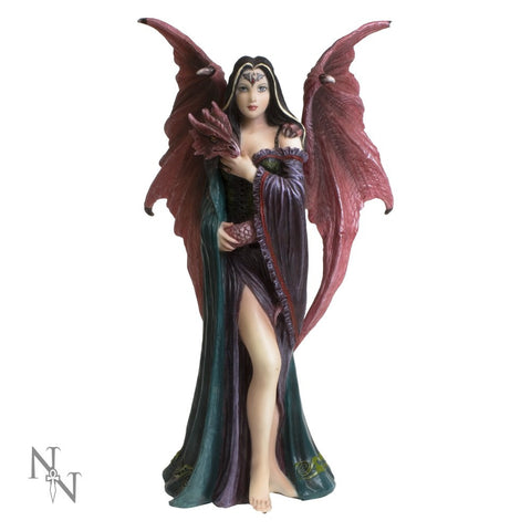 Soul Mates, Lady with dragon Figurine