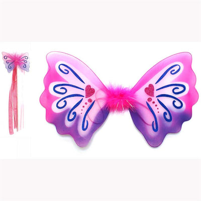 Pink pixie wings and wand set