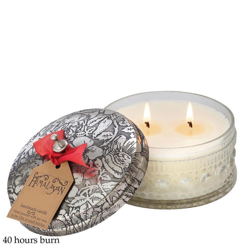 Powder box candle peony