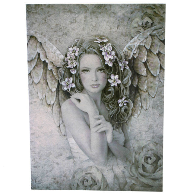 Primrose, Angel Greeting Card, Jessica Galbreth