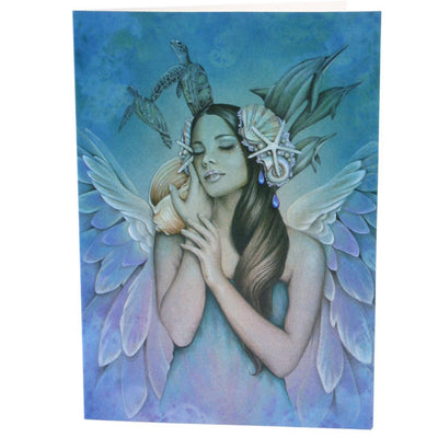 Serenity,  All occasions Angel Greeting Card, Jessica Galbreth