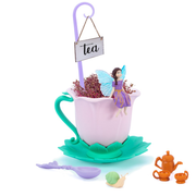 Tea cup fairy garden out of box