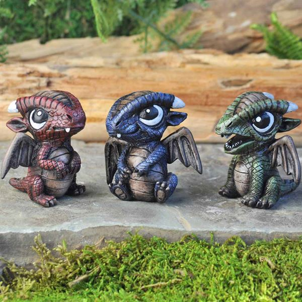 Baby dragon figurines by Fiddlehead