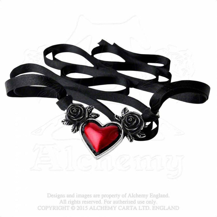 Blood Heart choker, Alternative view, Alchemy Gothic