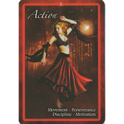 Chakra Insight Oracle, Example card: Action