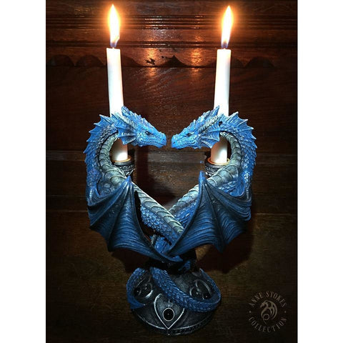 Dragon heart candle holder