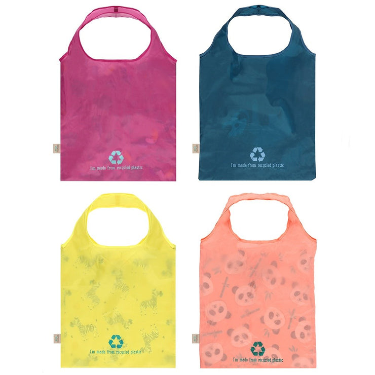 Eco animal shopping bags rear view