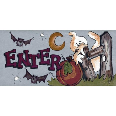 "Fun, Halloween sign ""Enter"""