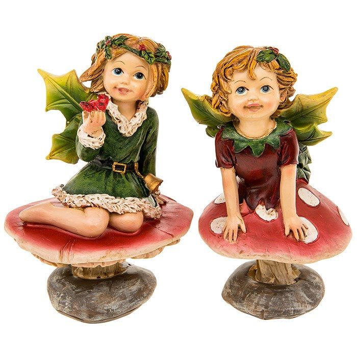 Toadstool Holly Fairies
