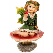 Toadstool Holly Fairy, Green Dress