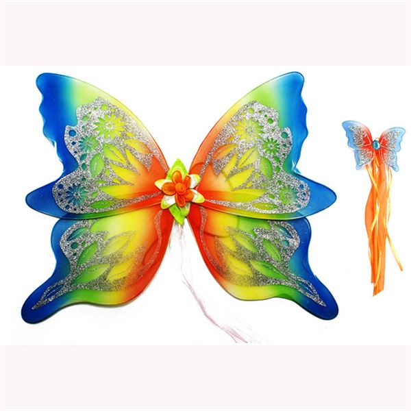 Large rainbow fairy wings