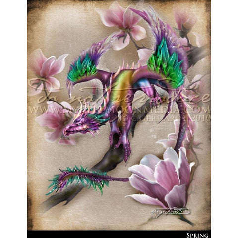 Spring, Dragon Print, © Mystic Moon Media LLC