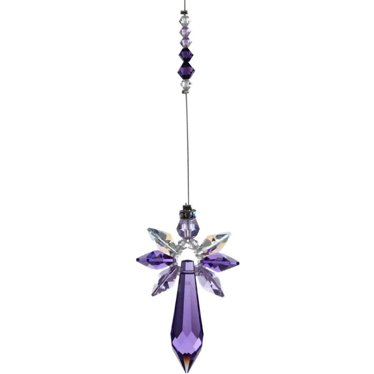 Amethyst Radiant guardian angel, Swarovski crystals