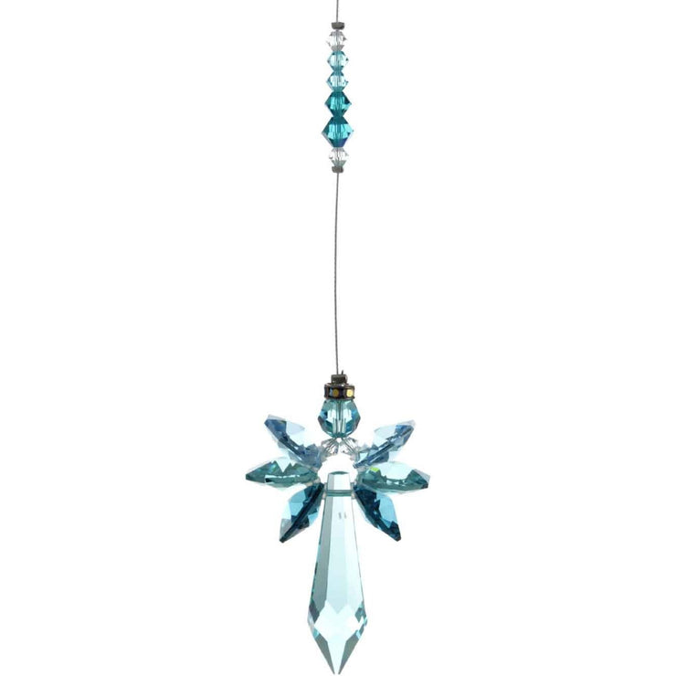 Blue Zircon Radiant Guardian Angel